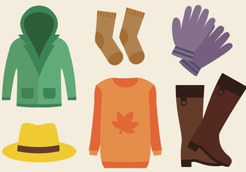 Free Autumn Clothes Vector - бесплатный vector #388625