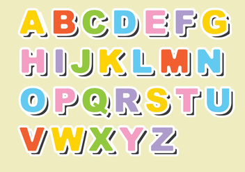 Fridge Magnet Alphabet Vector - Free vector #388735