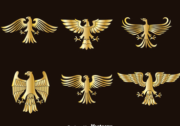 Golden Eagle Symbol Vector - Free vector #388805