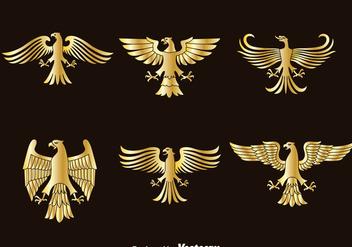 Golden Eagle Symbol Vector - Kostenloses vector #388805