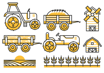 Agriculture Icons - vector #388815 gratis