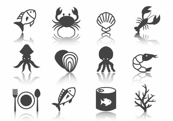 Free Seafood Icons Vector - Free vector #388985