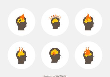 Free Head Burnout Vector Icons - Kostenloses vector #389045