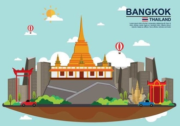 Free Bangkok Illustation - Free vector #389125