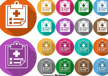 Vector Set Of Colorful Buttons Of Prescription Pad Icon - Kostenloses vector #389145