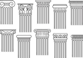 Free Pillars Vectors - бесплатный vector #389155