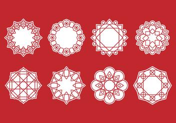 Free Set of Mandala Decorative Vector - Free vector #389265