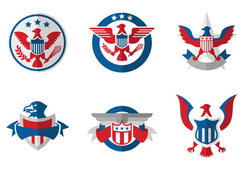Blank President Seal Vector Pack - Kostenloses vector #389285