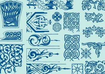 Art Deco Scroll Art - Free vector #389295