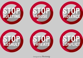 Stop Bullying Vector Signs - Kostenloses vector #389545