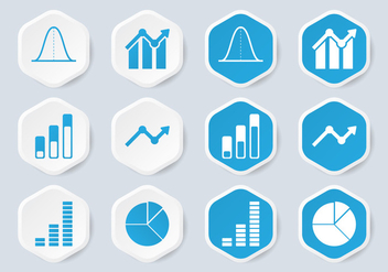 Bell Curve Infographic Icon - Free vector #389675