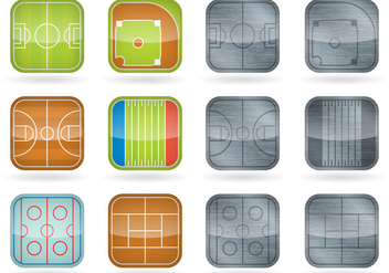 Sport Field Icons - Free vector #389785