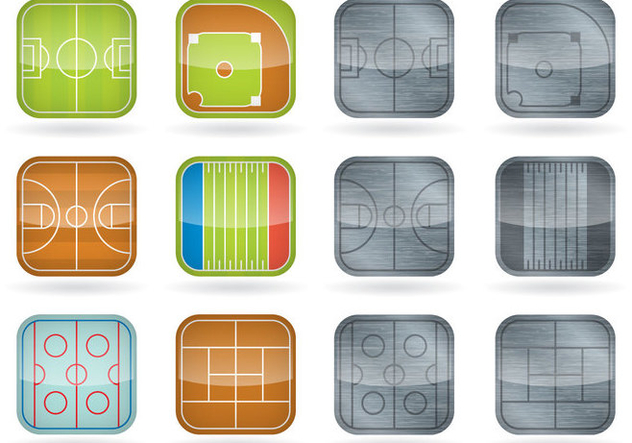 Sport Field Icons - vector gratuit(e) #389785