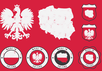Poland Eagle Badge - vector gratuit #389935