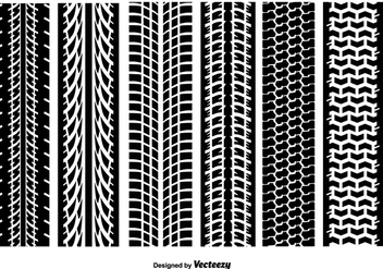 Tire Marks Vector Textures - Free vector #390115