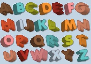 Letras Letters Alphabet Dimensional - vector #390505 gratis