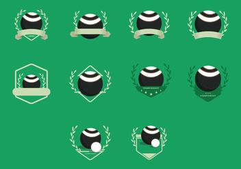 Lawn Bowls Vintage Templates Icon - Free vector #390535