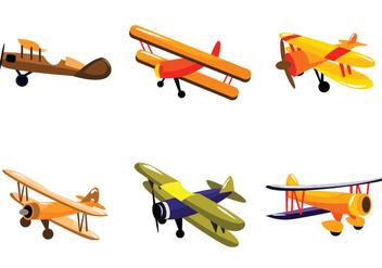 Orange Biplane Vector - Free vector #390625