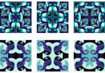 Pretty Portuguesse Tile Vector - Kostenloses vector #390655