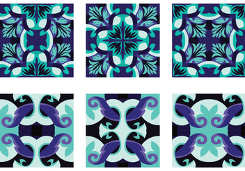 Pretty Portuguesse Tile Vector - vector #390655 gratis