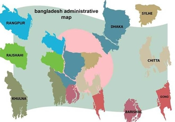 Free Bangladesh Map Illustration - Kostenloses vector #390665