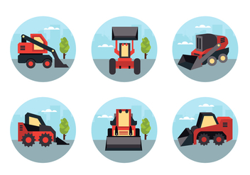 Skid Steer Vector Pack - Free vector #390695