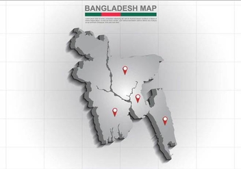 Free Bangladesh Map Illustration - Kostenloses vector #390735