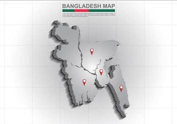 Free Bangladesh Map Illustration - Free vector #390735