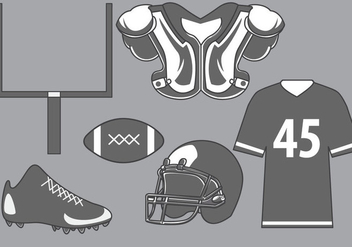 Football Equipment Vector - Free vector #390785