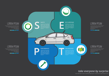Prius Infographic Illustration - Free vector #390795