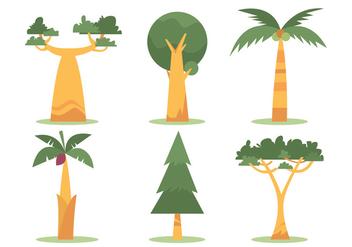 Baobab Vector Set - Kostenloses vector #390815