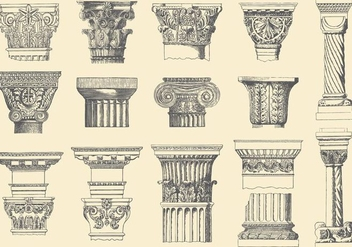 Historical Pillars - Free vector #390835