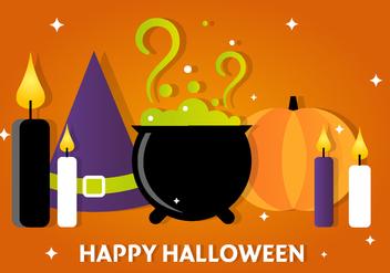 Free Halloween Vector Witch Accessories - Kostenloses vector #390915