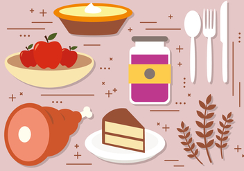 Free Thanksgiving Vector Decoration - Free vector #390925