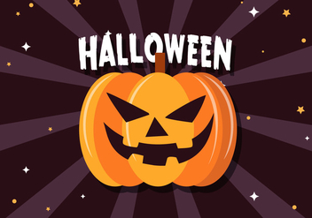 Free Scary Halloween Pumpkin Vector - Kostenloses vector #391015