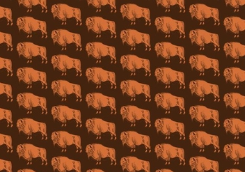 Buffalo Seamless Pattern - vector gratuit #391105