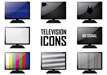 TV Icons - vector gratuit #391115