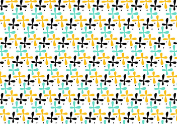 Retro repeating pattern - vector gratuit #391155