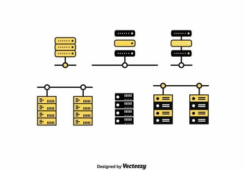 Server Rack Vector - vector gratuit #391185