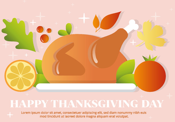 Free Vector Thanksgiving Turkey - бесплатный vector #391275