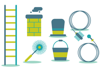Chimney Sweep Vector Set - Kostenloses vector #391425