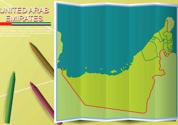 Free UAE map Illustration - Free vector #391625