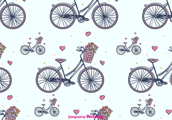 Bicycle Vector Pattern - vector gratuit #391655