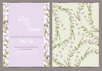 Lavender Vector Wedding Invite - бесплатный vector #391695