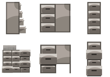 File Cabinet Vector - Free vector #391845