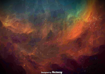 Vector Watercolored Galaxy Texture - Free vector #391855