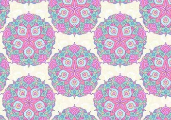 Pink Vector Colorful Mandala Pattern - Kostenloses vector #391945