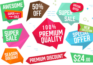Free Origami Design Vector Labels - Free vector #392025