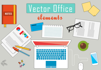 Free Business Office Vector Illustration - Kostenloses vector #392035