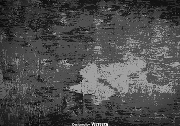 Grungy And Old Gray Surface Vector Background - Kostenloses vector #392205